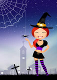 Funny witch Royalty Free Stock Photo