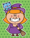 funny Witch. Royalty Free Stock Image
