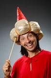 Funny wizard wearing Stock Photography
