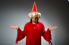 Funny wizard wearing Royalty Free Stock Images