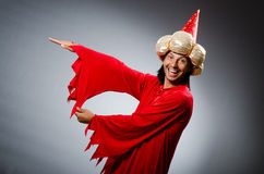 Funny wizard wearing Stock Images