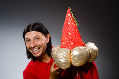 Funny wizard wearing Royalty Free Stock Photography