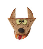 Funny wolf made of bread Royalty Free Stock Photos