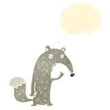 Funny wolf retro cartoon Stock Photo