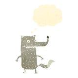 Funny wolf retro cartoon. Retro cartoon with texture. Isolated on White Royalty Free Stock Image