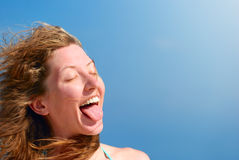 Funny woman Stock Images