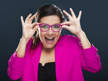 Funny woman Stock Photo