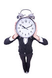 Funny woman with clock Stock Photography