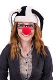 Funny woman clown Stock Photo