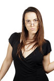Funny woman with glasses Royalty Free Stock Image