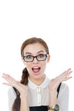 Funny woman with glasses Stock Photography
