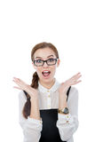Funny woman with glasses Stock Photos