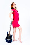 Funny woman with guitar Stock Photo