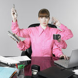 Funny woman at the office Royalty Free Stock Photo