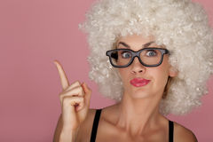Funny woman. Stock Image