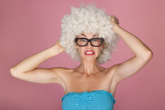 Funny woman. Stock Photography