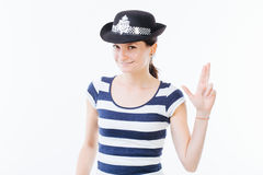Funny woman posing Stock Photography