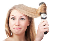 Funny woman's face Royalty Free Stock Image