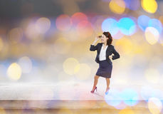 Funny woman in suit Royalty Free Stock Photo