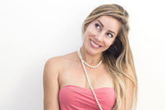 Funny woman thinking Royalty Free Stock Photography