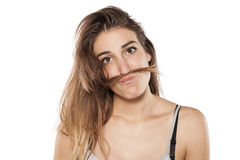 Funny woman Stock Photo