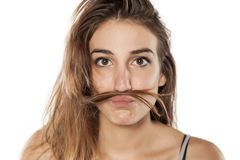 Funny woman Stock Image