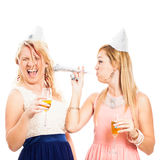 Funny women celebrating Royalty Free Stock Photography