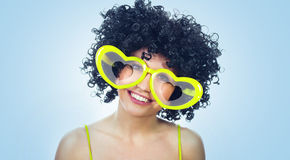 Funny women in love Royalty Free Stock Image