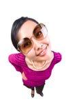 Funny women portrait Stock Photos