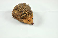 Funny wood porcupine. Small and funny wood porcupine Stock Photos