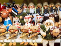 Funny wooden souvenirs from Estonia Royalty Free Stock Images