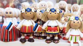 Funny wooden souvenirs from Estonia Stock Photo