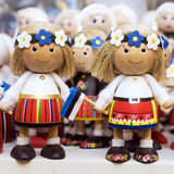 Funny wooden souvenirs from Estonia Royalty Free Stock Photos