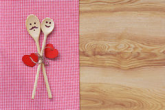 Funny wooden spoons Stock Image
