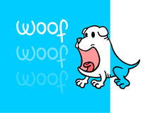 Funny woof card Stock Image
