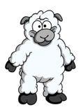 Funny woolly cartoon sheep Royalty Free Stock Photography
