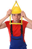 Funny worker Royalty Free Stock Photography