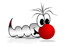 Funny Worm. Funny comic character for presentations etc.. Available as vector too Royalty Free Stock Photos