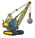 Funny wrecking ball truck with eyes Royalty Free Stock Photography
