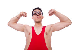 Funny wrestler Royalty Free Stock Images