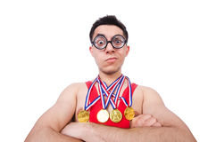 Funny wrestler Royalty Free Stock Photos