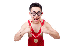 Funny wrestler Royalty Free Stock Image