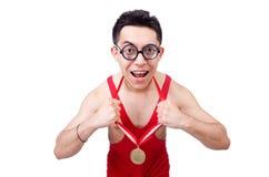 Funny wrestler Royalty Free Stock Image