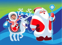 Funny Xmas group Royalty Free Stock Photography