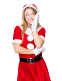 Funny xmas party girl Stock Images