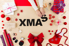 Funny xmas word Royalty Free Stock Photography
