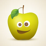 Funny yellow apple Royalty Free Stock Photography