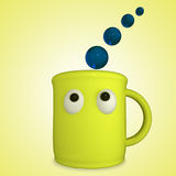 Funny yellow cup Royalty Free Stock Image