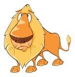 Funny yellow lion cartoon Royalty Free Stock Photo