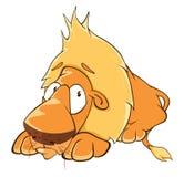 Funny yellow lion cartoon Stock Photo